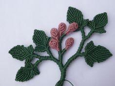 Rametto foglie e fiori