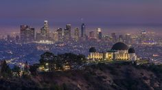 Griffith Observatory And DTLA Skyline by clarsonx
