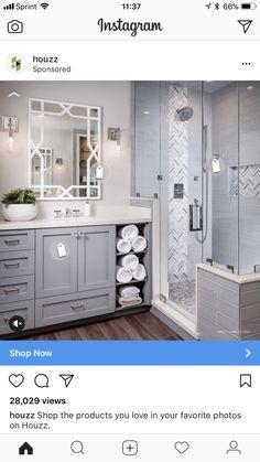 Heringbone Accent Tile Is Arizona Tile Grey Polished Mesh. Grey Subway Tile  Is A Arizona Tile H Line. Grey Bathroom Tiling Tracy Lynn Studio Love This  ...