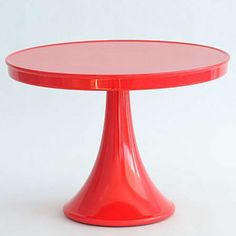 CUPCAKE Serveware STAND & CAKE PEDESTAL RED MELAMINE from The Sugar Diva (($))
