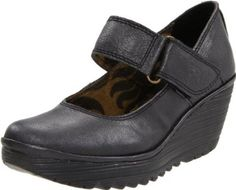 FLY London Women's Yag Flat,Black Borgogna,36 EU/5 M US FLY London. $200.00