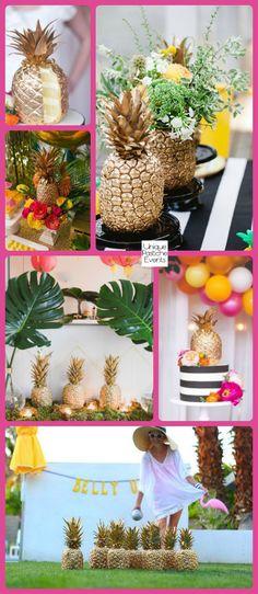 Golden Pineapple  Summer Party Ideas #IdeaBoard #InspirationBoard