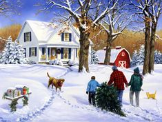 """""""Family Christmas with Molly"""" by Linda Picken"""