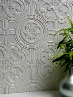Egon Paintable Textured Vinyl Wallpaper Brewster Wallcoverings Whites Paintable Wallpaper Textured Wallpaper, Vinyl, Easy to clean , Easy to wash, Easy to strip Vinyl Wallpaper, Paintable Textured Wallpaper, Look Wallpaper, Embossed Wallpaper, Wallpaper Samples, Peel And Stick Wallpaper, Wallpaper Ideas, Temporary Wallpaper, Wallpaper Designs