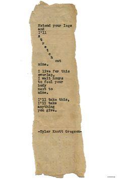 Typewriter Series #1670 by Tyler Knott Gregson