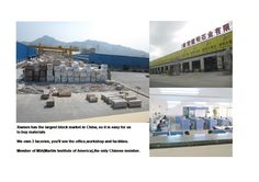 Work for a stone fabricator-JM Stone Group, and this is one of our own factories.In fact, we own 3 factories.