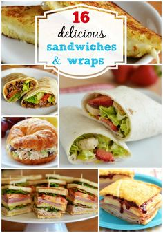 Menu Plan Monday 16 Sandwiches and Wraps