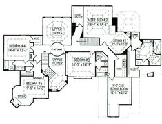 Viewing 6 Bedroom House Plans On Free House Plans.
