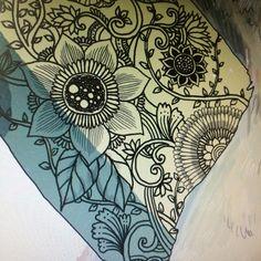 "Botanical drawing in the Illustration ""Polar bear & Surfing"""