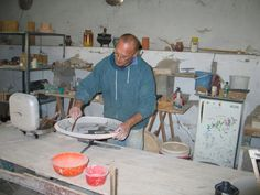 Wax resisting large platters