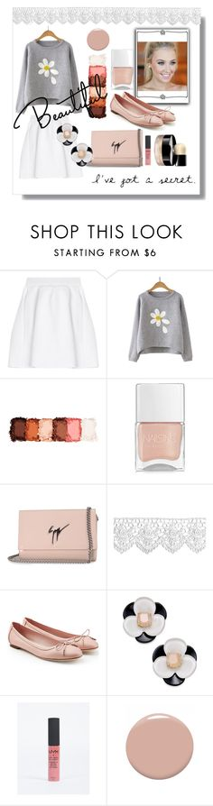 """Shy Girl"" by d-fashion98 ❤ liked on Polyvore featuring malo, NYX, Nails Inc., Giuseppe Zanotti, Salvatore Ferragamo, Kate Spade, Christian Louboutin and Chanel"