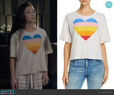 Lily's rainbow heart tee on Modern Family Modern Family Lily, Modern Family Episodes, Fashion Tv, Fashion Outfits, Rainbow Heart, Other Outfits, Aubrey Anderson, Lounge Wear, Tees