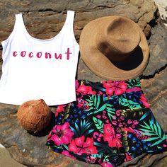 Coconuts & Floral Shorts