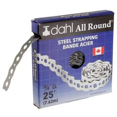 Dahl 3/4-in x 25-ft 24-Gauge Steel All Round Strapping