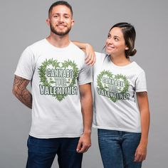 Cannabe Your Valentine Unisex T-Shirt - Weed Stylez Co. Weed Quotes, Stoner, Cannabis, Husband, Unisex, Awesome, Prints, Sports, Cotton