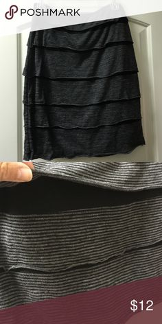 Black and grey skirt Black and gray skirt Sophie Max Skirts