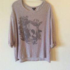 Torrid skull light knit sweater minimal signs of light wear cute for spring true to torrid sizing torrid Sweaters