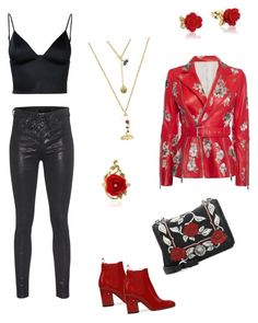 """""""Beauty and the Beast"""" by tluvzscrap on Polyvore featuring Alexander McQueen, T By Alexander Wang, rag & bone, Miu Miu and Disney"""