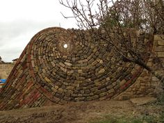 Stone spiral by John Bainbridge.