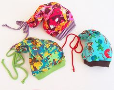 TRENDY BEANIE Hat sewing pattern Pdf Easy Knit Fleece Woven, Boy Girl Baby toddler children newborn 3 6-9 12 18m 2 - 10 yrs Instant Download