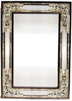 syrian mother of pearl inlay mirror