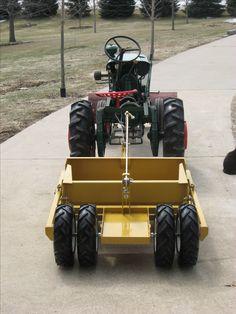 Gard'n Mast'r G Tractor with a custom built soilmover scraper with dual rear wheels. 8n Ford Tractor, Lawn Mower Tractor, Lawn Tractors, Cub Cadet Tractors, Homemade Tractor, Tractor Accessories, Tractor Implements, Tractor Attachments, Compact Tractors
