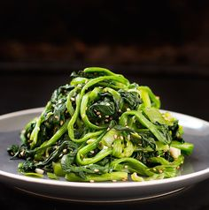 Try this light spinach salad recipe. This Korean Spinach Salad is one of the basic Korean vegetable side dishes and traditionally served with a Korean meal (like