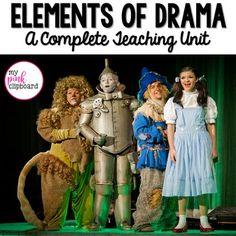 Great unit for teaching the drama unit! Easy-to-use teaching powerpoint… Drama Education, Drama Class, Middle School Reading, 4th Grade Reading, Teaching Theatre, Drama Teaching, Teaching Literature, Teaching Resources, Elements Of Drama