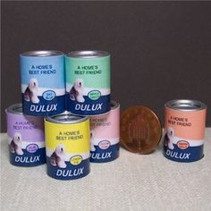 Dolls house miniature one paint can