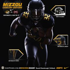 Mizzou Nike Uniform combination for Thursday night kick off in  TheZOU!  Thursday Night c1ed6f8e7