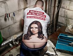 Plumbers crack Cleavage Shirt