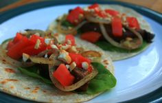 Balsamic Portobello Cashew Tacos #vegan #healthy #peppersandpeaches.com