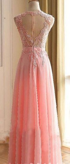 Fashionable Pink Prom Dress with Heart Shape Back, Prom Dresses, Graduation Party Dresses, Formal Dress For Teens, BPD0255