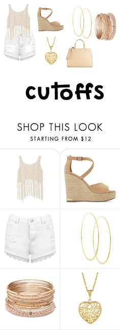 """""""Nude Cutoffs ❤"""" by lucky133 ❤ liked on Polyvore featuring Dune, Miss Selfridge, Lana, Red Camel, Calvin Klein, jeanshorts, denimshorts and cutoffs"""