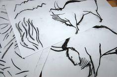 Latidos en ocre. Álbum ilustrado de Manuel Mantecón. Work in progress Bison, Abstract, Artwork, Summary, Work Of Art, Auguste Rodin Artwork, Artworks, Illustrators