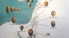 Il Neolitico è caratterizzato dal culto domestico dei defunti, che venivano fatti decomporre in casa per poi stuccare il cranio. Mappa delle zone in cui sono state ritrovate maggiormente queste maschere.