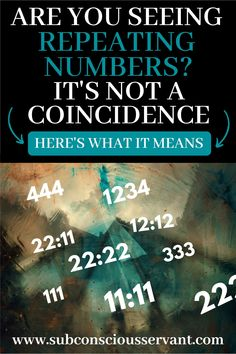Are you seeing repeating numbers, also in numerology called angel numbers? Well, it's probably NOT a coincidence. Appreciate this detailed overview to use the law of attraction Angel Number Meanings, Angel Numbers, Numerology Numbers, Numerology Chart, Astrology Numerology, Seeing Repeating Numbers, Life Path Number, Spirituality, Frases