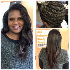 Sewin mixing Brown & Black weaving hair to blend with client's black hair left out. Before After Hair, Beauty Supply, Black Hair, Weaving, Hair Beauty, Dreadlocks, Brown, Hair Styles, Hair Black Hair