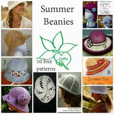 MNE Crafts: Summer Beanies - 10 Free Patterns