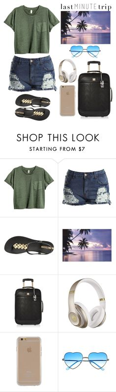 """last MINUTE trip"" by londero-danielle ❤ liked on Polyvore featuring Boohoo, IPANEMA, River Island, Beats by Dr. Dre, Agent 18 and lastminutetrip"