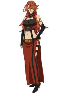The anime character Maruguretto Odeiusu is a adult with to waist length orange hair and yellow eyes. Lord Marksman And Vanadis, Character Art, Character Design, Character Ideas, Girls With Red Hair, Yellow Eyes, Tsundere, Anime Characters, Fictional Characters