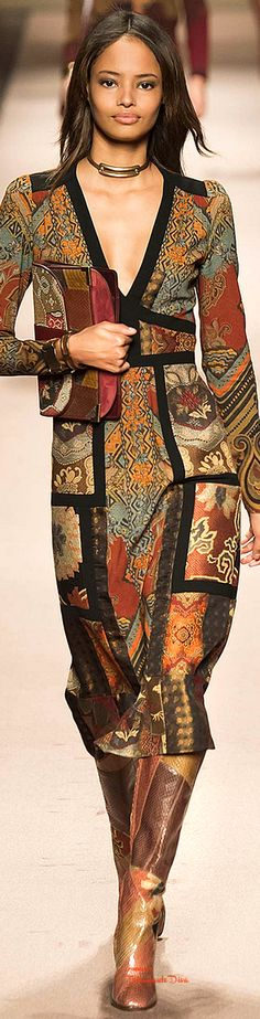 Etro Fall 2015. Kind of hippy elegant. Want one of these