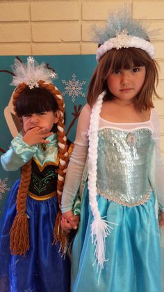 Frozen Queen Elsa Hair and Princess Anna Glittery Tulle Halo Hair Handmade With Yarn on Etsy, $35.00
