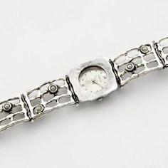 SHABLOOL watch,sterling Silver watch,bracelet watch,pearl watch,watch from israel,women watch,silver warch,shablool jewelry,handmade watch by theholylandjewelry on Etsy
