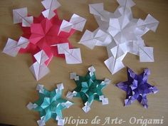 Leaves Origami Art: Hexagonal Star