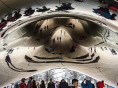 #chicago #public #art #anishkapoor #cloudgate #endlesswonder #human #mirror #mythology #now #self