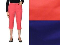 Liz Claiborne cropped pants colored solid women's size 4P, 8P, 10P, 12P, 14 NEW  16.99 http://www.ebay.com/itm/Liz-Claiborne-cropped-pants-colored-solid-womens-size-4P-8P-10P-12P-14-NEW-/251913922237?ssPageName=STRK:MESE:IT