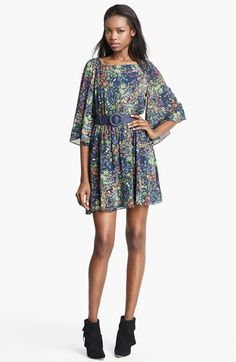 Alice   Olivia 'Bauer' Flower Print Dress available at #Nordstrom
