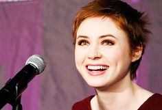 Karen Gillan; boy did her hair ever grow since she shaved it! <3