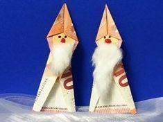 Last Minute Gifts - Weihnachtsmann aus Geldschein - Gift Ideas World Presents For Boyfriend, Presents For Kids, Boyfriend Gifts, Gifts For Kids, Craft Gifts, Diy Gifts, Creative Money Gifts, Happy Anniversary Wishes, Origami Easy